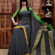 Bhruvee - Patteda Cotton Saree